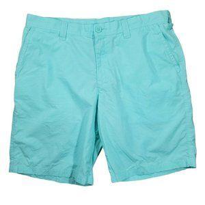 Columbia Mens Blue  chino shorts sz 36